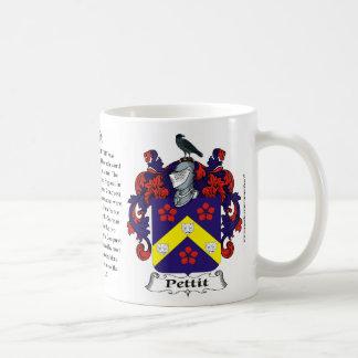 Pettit, el origen, el significado y el escudo taza