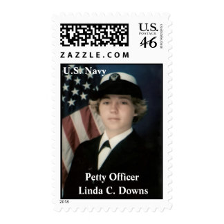 Petty Officer Linda C. Downs Stamp