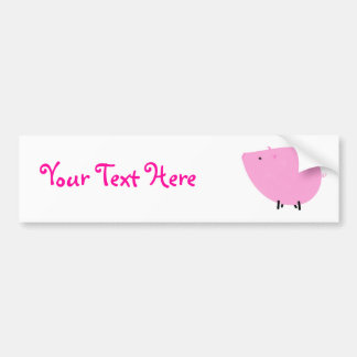 Petula the Pretty Pink Pig Bumper Sticker