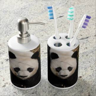 Petulant Panda Bear Bathroom Set