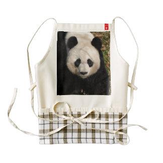 Petulant Panda Bear Zazzle HEART Apron
