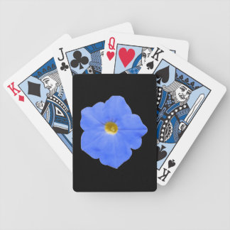 Petunia Blue and Yellow Playing Cards