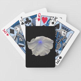 Petunia Blue Glow Playing Cards