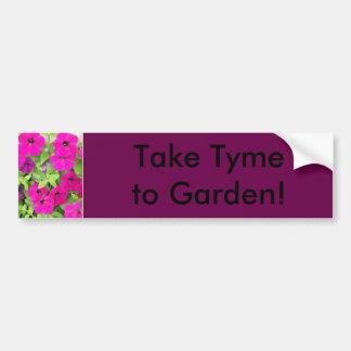 Petunia Bumper Sticker