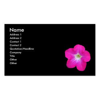 Petunia Business Card Template
