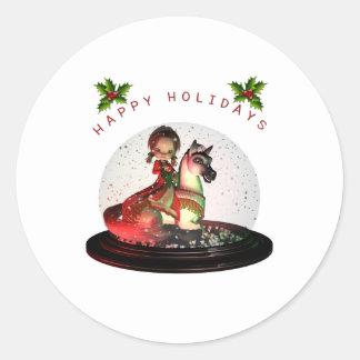 Petunia Christmas Classic Round Sticker