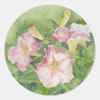 Petunia Classic Round Sticker
