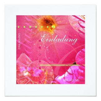 Petunia en tarjeta Rosa de invitación