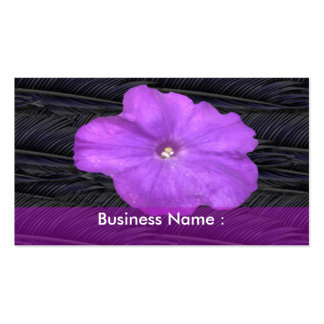 Petunia Flower Business Card