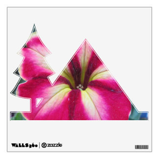 Petunia Flower Camping Icon Wall Decal