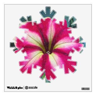 Petunia Flower Snowflake Wall Decal