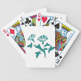 Petunia Flower Stylized Bicycle Playing Cards