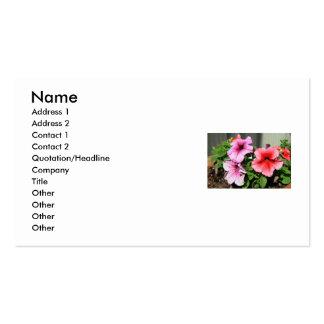 Petunia Flowers Business Card