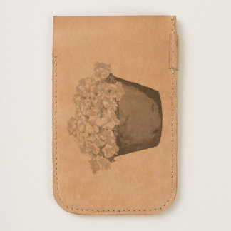Petunia Flowers iPhone Leather Pouch