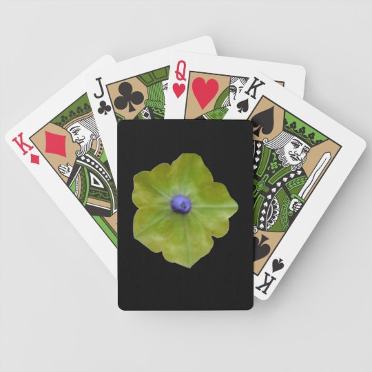 Petunia Green and Blue Playing Cards