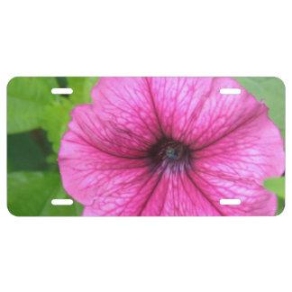 Petunia License Plate