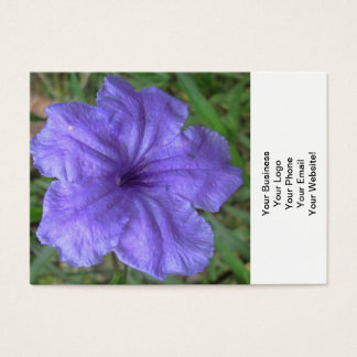 Petunia Mexican Purple Business Card