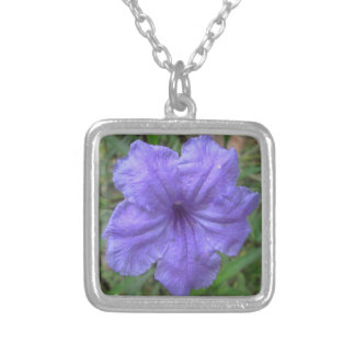 Petunia Mexican Purple Silver Plated Necklace