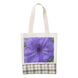 Petunia Mexican Purple Zazzle HEART Tote Bag