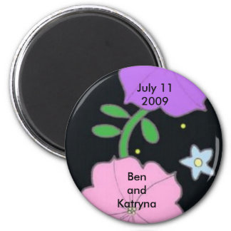 Petunia on Black Save the Date Magnet