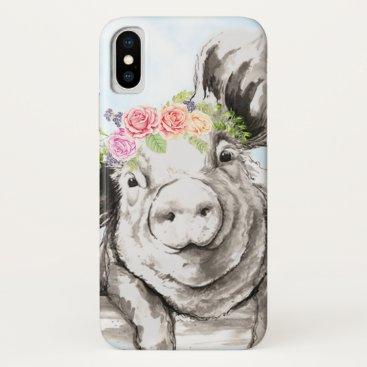 Petunia Pig iPhone XS Case
