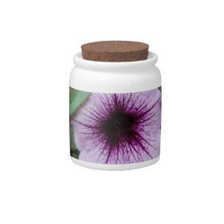 Petunia Plants Candy Jar