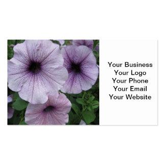 Petunia Purple White Business Cards