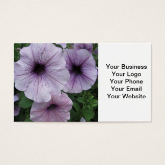 Petunia Purple White Business Card