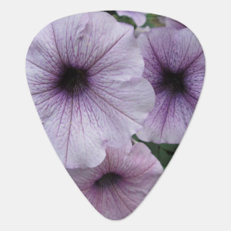 Petunia Purple White Guitar Pick