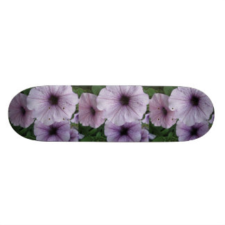 Petunia Purple White Custom Skateboard
