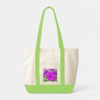 Petunia púrpura bolsa lienzo