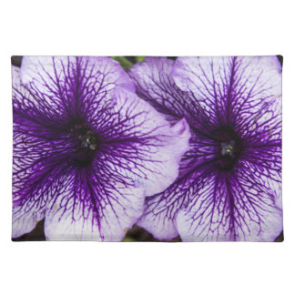 Petunia púrpura Placemat Mantel
