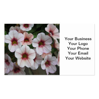 Petunia Red White Business Cards