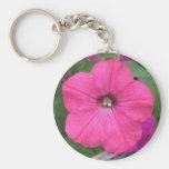 Petunia rosada llaveros personalizados