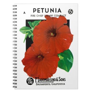 Petunia Seed Packet Label Notebook