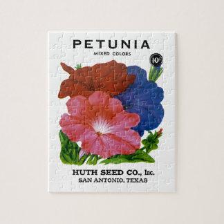 Petunia Vintage Seed Packet Jigsaw Puzzle