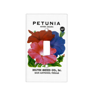 Petunia Vintage Seed Packet Light Switch Cover