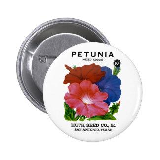 Petunia Vintage Seed Packet Pinback Button