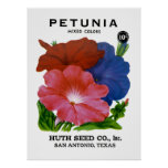 Petunia Vintage Seed Packet Posters