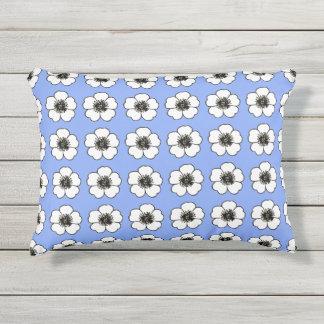 Petunia_White-Blueberry(c) OUTDOOR-Pillows Outdoor Pillow