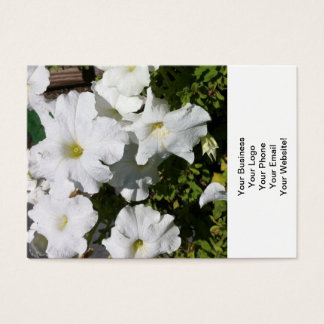 Petunia White Flower Business Card