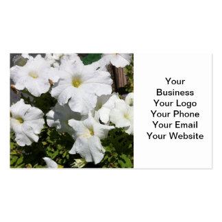 Petunia White Flower Business Card Templates