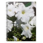 Petunia White Flower Notebooks
