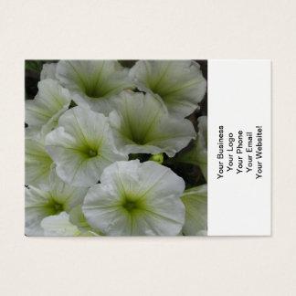 Petunia Yellow White Business Card