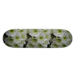 Petunia Yellow White Skate Deck