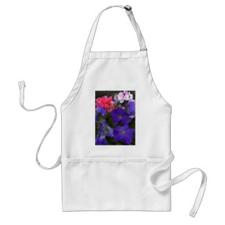 Petunias and Geraniums Adult Apron