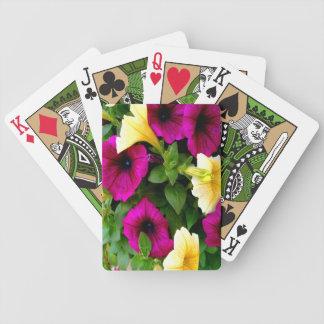 Petunias Bicycle Playing Cards
