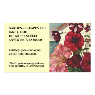 PETUNIAS BLOOM BUSINESS CARDS MAKE A STATEMENT