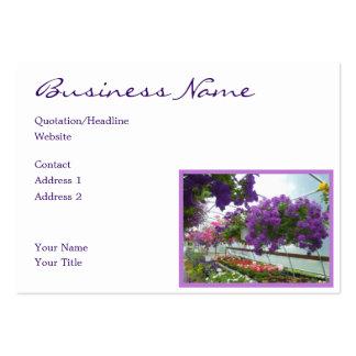 Petunias de la púrpura de la verbena de la lavanda tarjetas de visita grandes