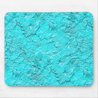 Petunias esculpidas, azul Mousepad de la Tapete De Ratones